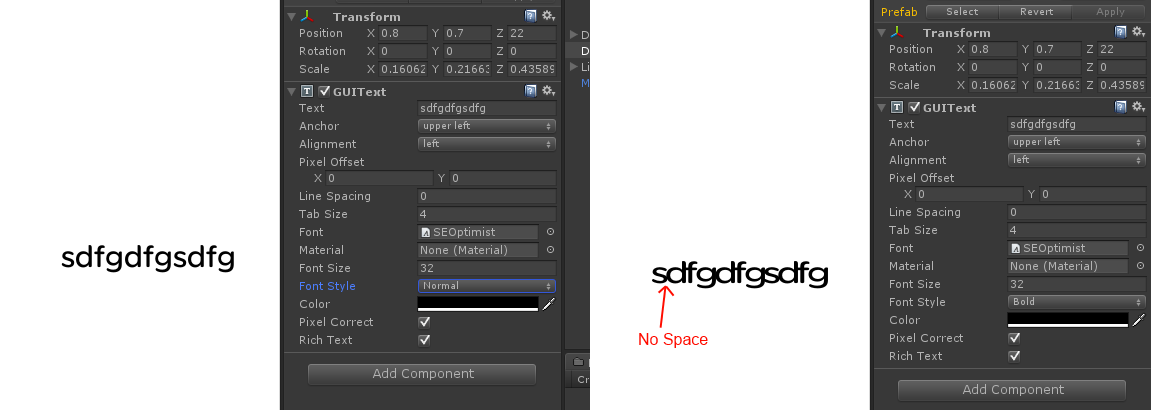 imported font(s) : bold style looks like compressed - Unity Answers