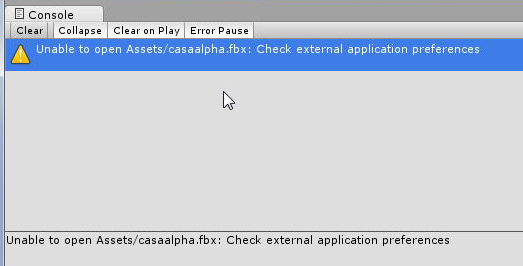 Unity asks to check external application preferences when