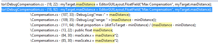 all references to maxDistance
