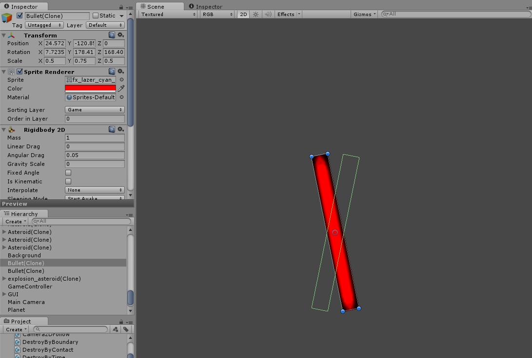Box Collider 2D not following object rotation - Unity Answers