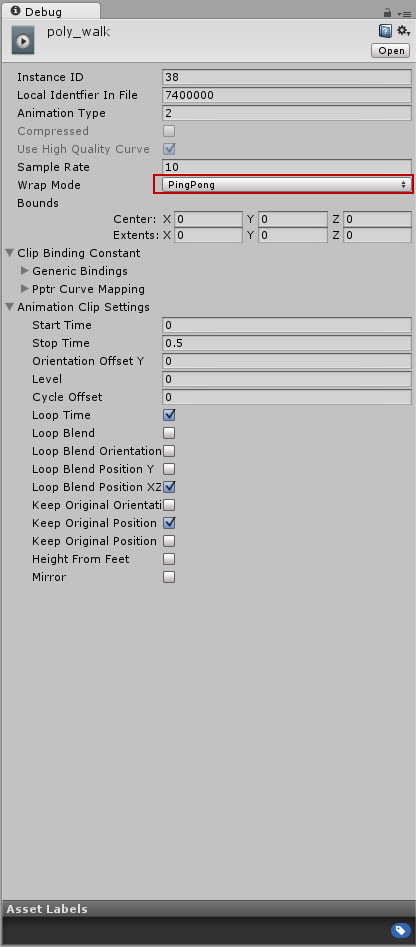 Wrap Mode PingPong not working - Unity Answers