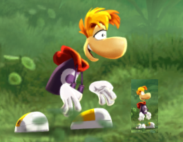 Rayman, large and small