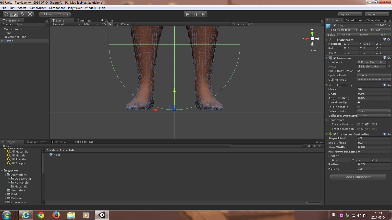 Why character controller floats 5 cm above ground? - Unity Answers