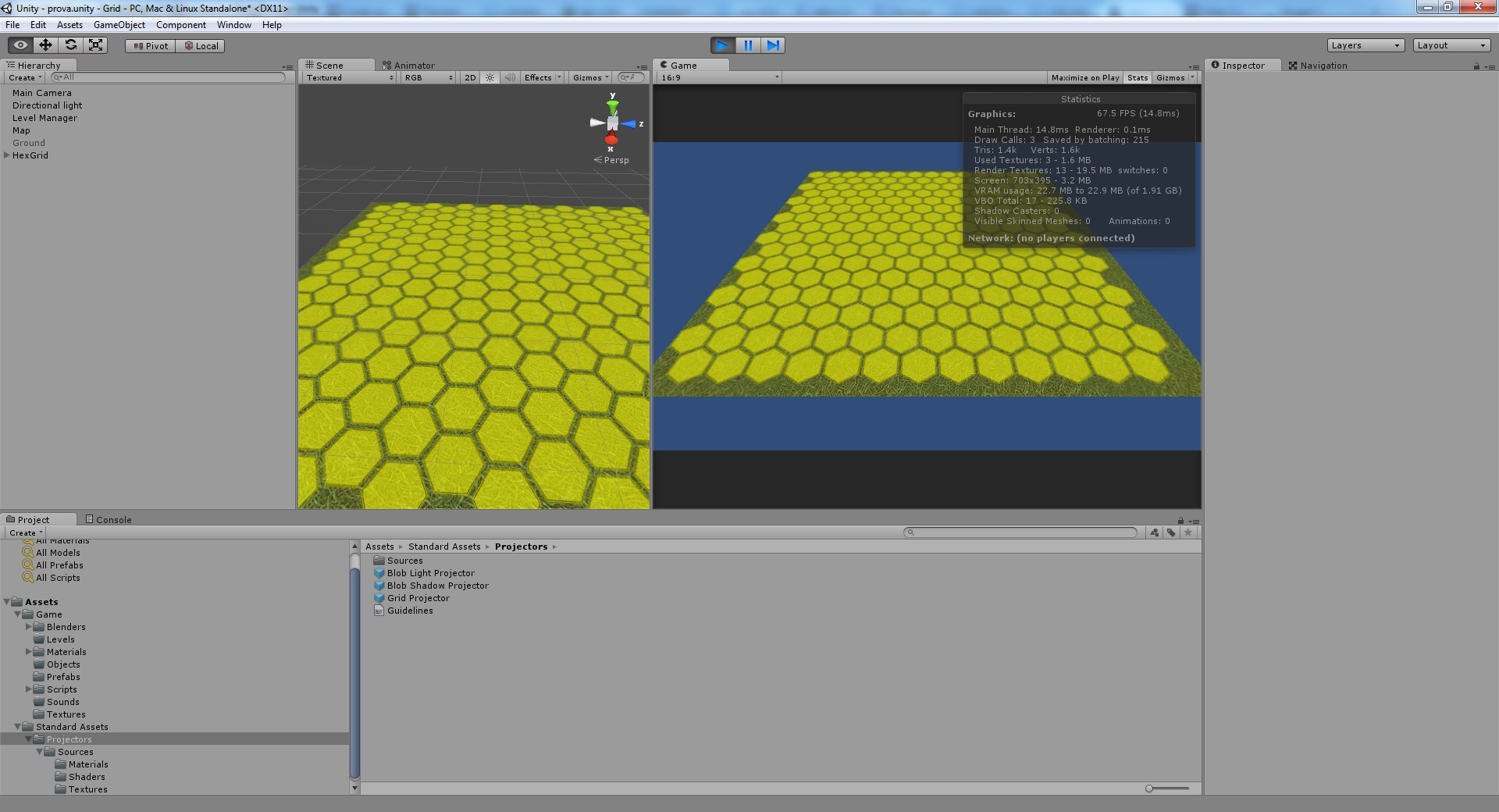 Project an hex grid on a non flat terrain  - Unity Answers