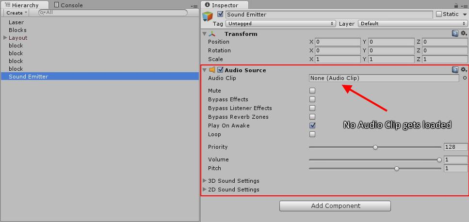 Resources load returns null instead of AudioClip - Unity Answers