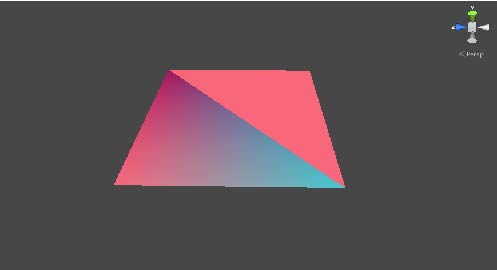 Color triangle on mesh - Unity Answers