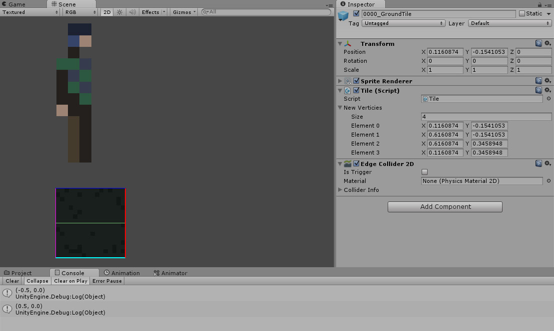 How to create & change Edge collider from code? - Unity Answers