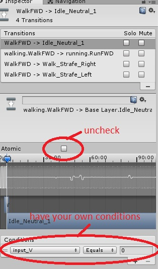 Walk animation doesn't stop immediately  - Unity Answers