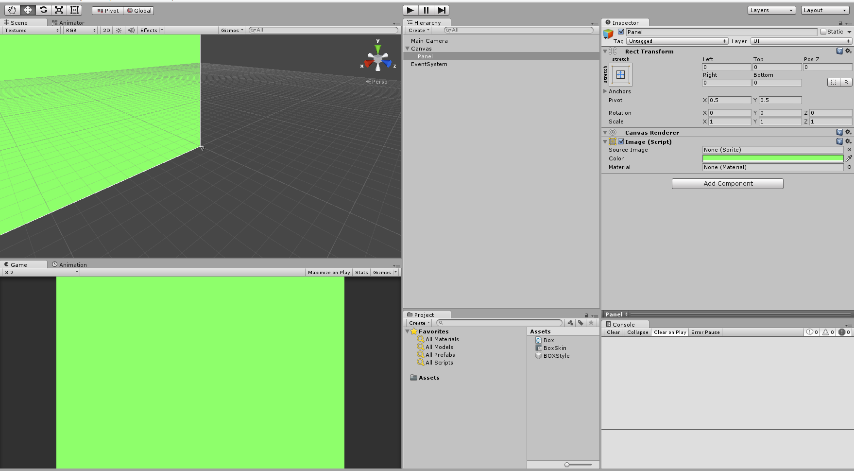 unity 4 6 ui canvas panel solid color - Unity Answers