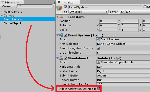 Problem with touch and ui button - Unity Answers