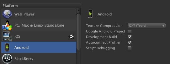 How to get Android Build Settings Texture Compression Setting from