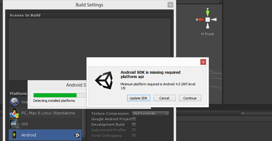 Always ask to updating android SDK - Unity Answers