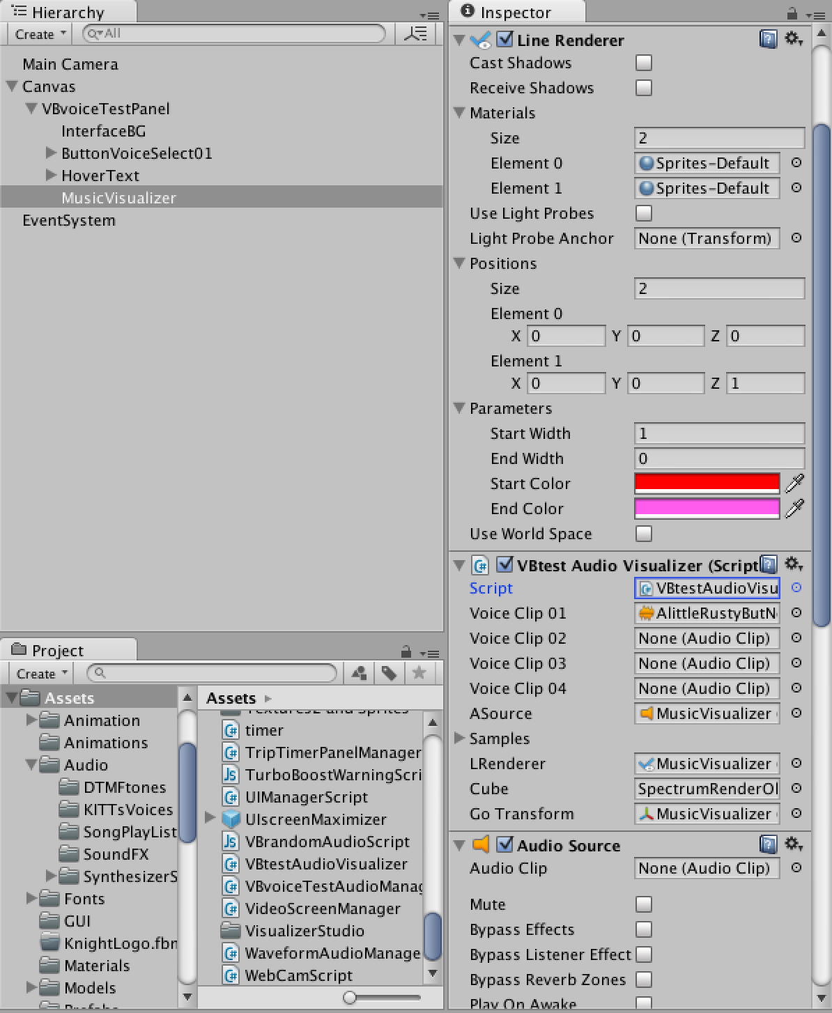 Line Renderer Music Visualizer Not Working - Unity Answers