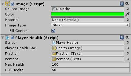 Health Bar Percentages Problem - Unity Answers