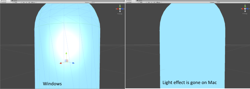 Glow/Spotlight shader not working on OSX/Android/iOS (OpenGL
