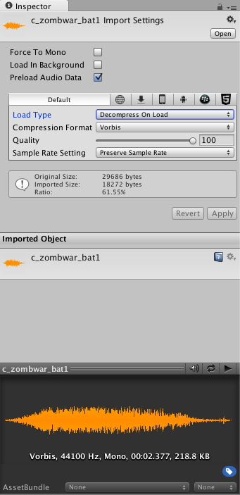 Can't change AudioClip to 3D Sound - Unity Answers