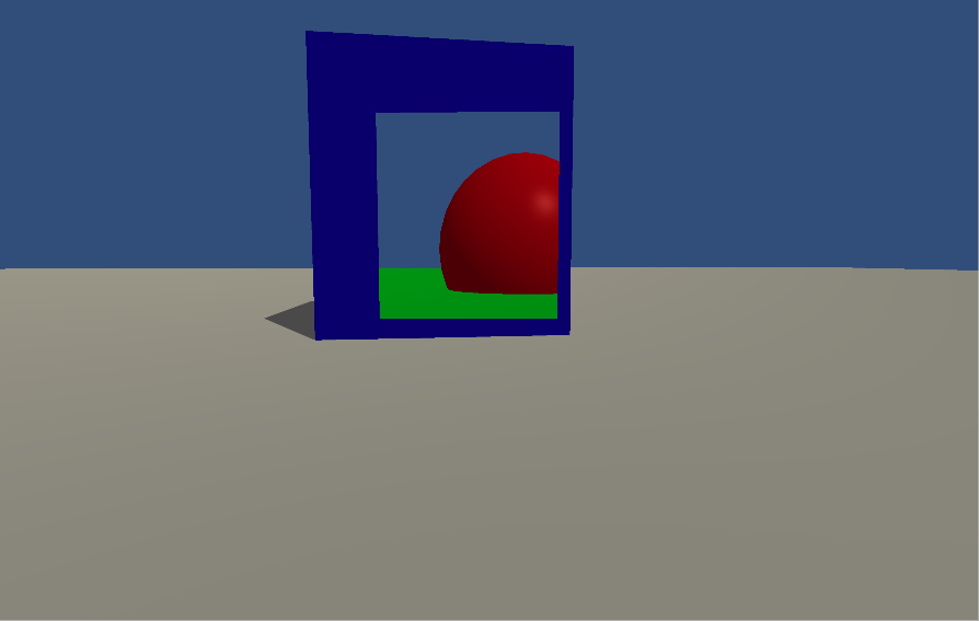 No red sphere shadow.