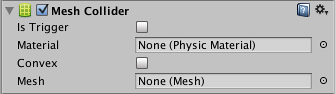 try to enable convex in mesh collider