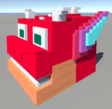 Texture issues after converting voxel model ( vox) into DAE and