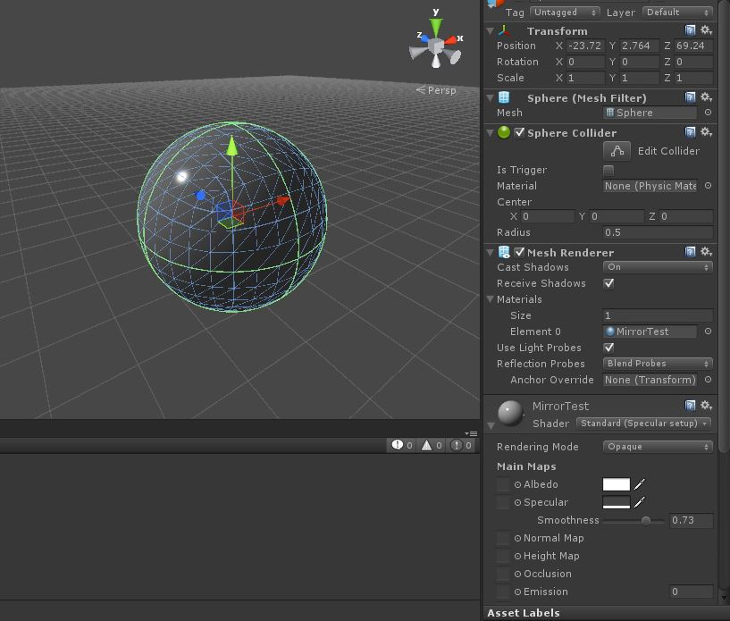 Specular/Metallic is not working in standard shader? - Unity