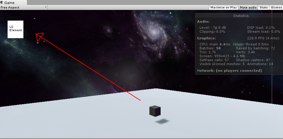 Move a 3d object from world space in the camera UI - Unity Answers