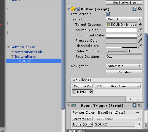 Unity 5 0 2f1 UI Button OnClick Function - Unity Answers