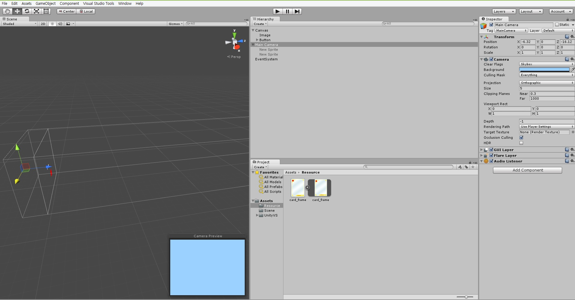 Unity 5 UI Canvas contents are not shown in Camera Preview