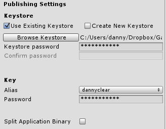 Keystore not working for me,help please - Unity Answers