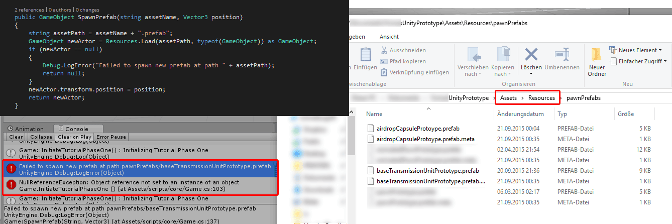 Resources Load can't find existing prefab file - Unity Answers