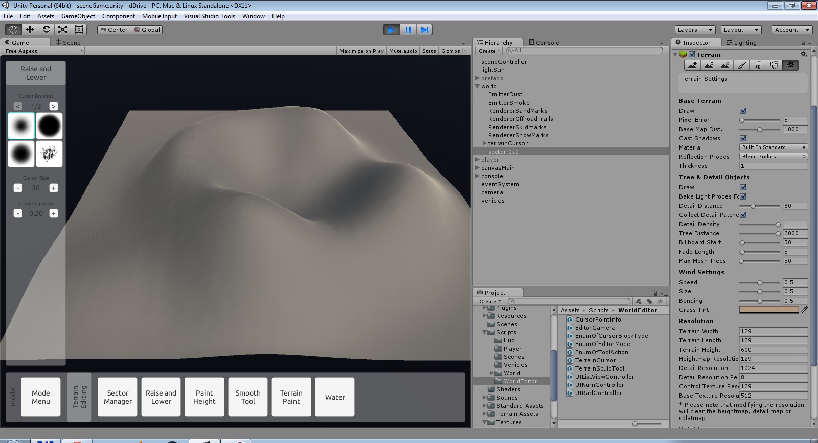 Different terrain look in editor and in build application