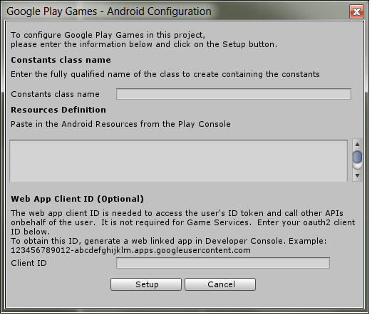 Unity / Google Play Services - Configuration Issues - Unity