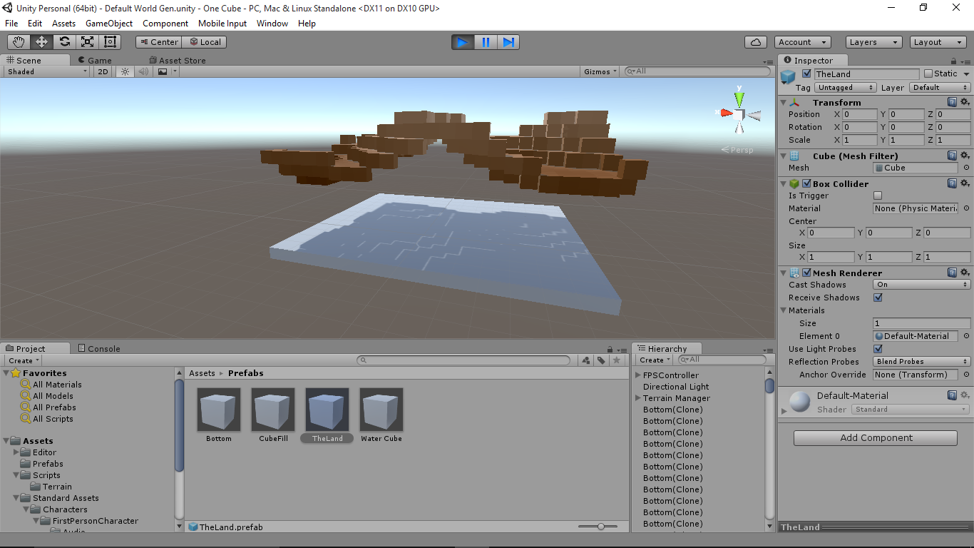 Help with perlin noise terran generation script - Unity Answers