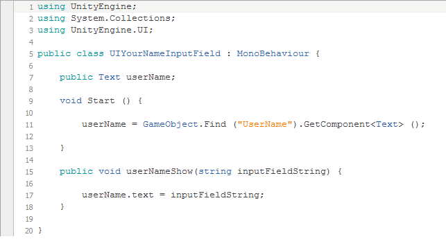 Showing what a user has chosen from a dropdown menu - Unity