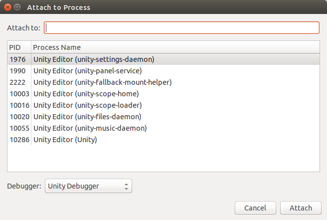 Unity Linux—Connect to Debugger - Unity Answers