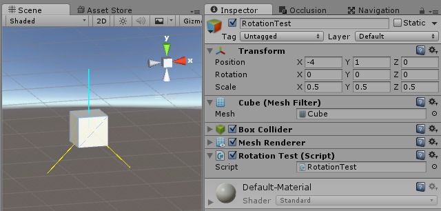 Rotate a vector based on a direction (transform up) of a game object