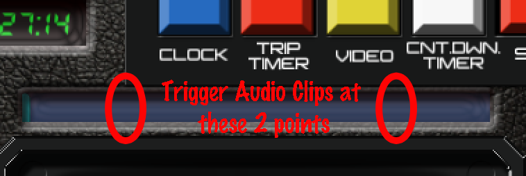 Screen capture of UI slider points to make audio trigger areas