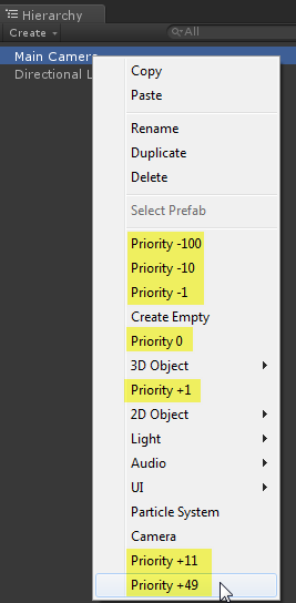Adding to the context menu of the hierarchy tab? - Unity Answers