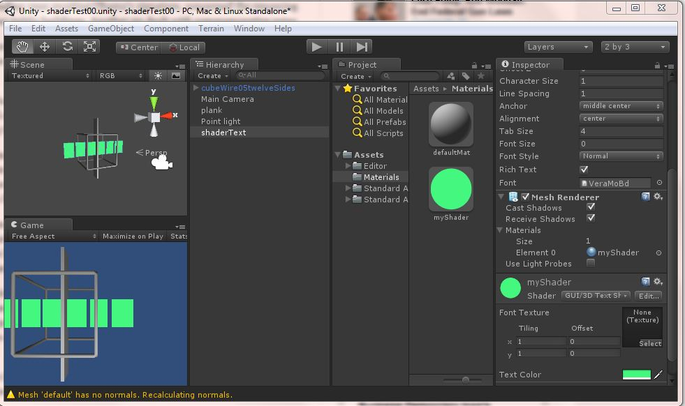 Why does shader show chars as rectangles? - Unity Answers