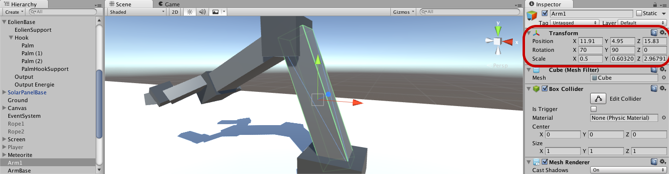 Rotated child's geometry changed when attach to parent - Unity Answers