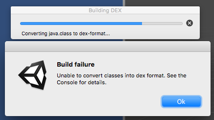 Build failure dex failure