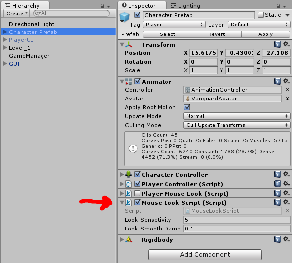 Need help disabling a script in another GameObject - Unity Answers