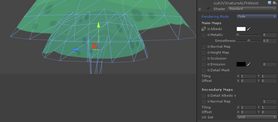 Standard shader - fade mode renders texture in wrong order - Unity