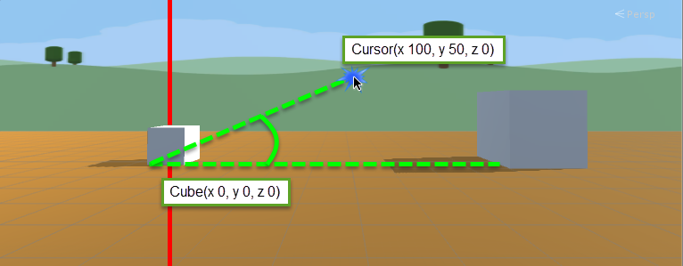 Get vector3 from cursor position relative to object in 3D