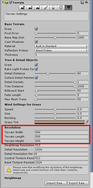 How to resize terrain? - Unity Answers
