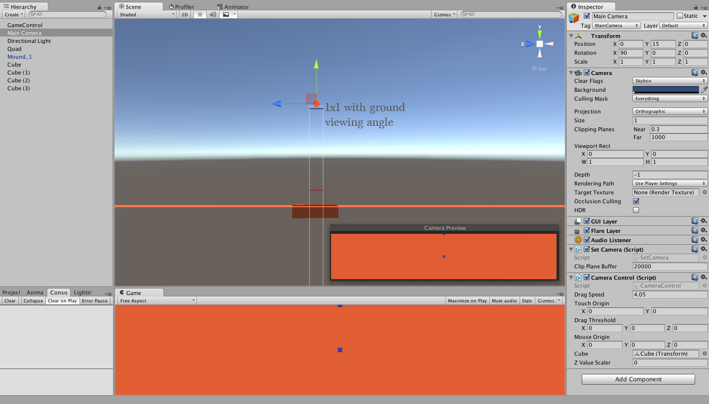 Scale Z Axis Movement According to Camera Tilt (Drag Control Camera