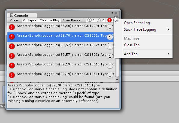 How to add a menu item to the window's right side pop-up
