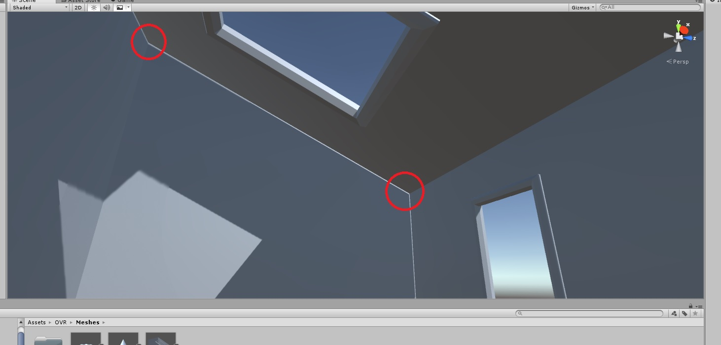 Unity 5 Real time lights cast shadows with gaps / light