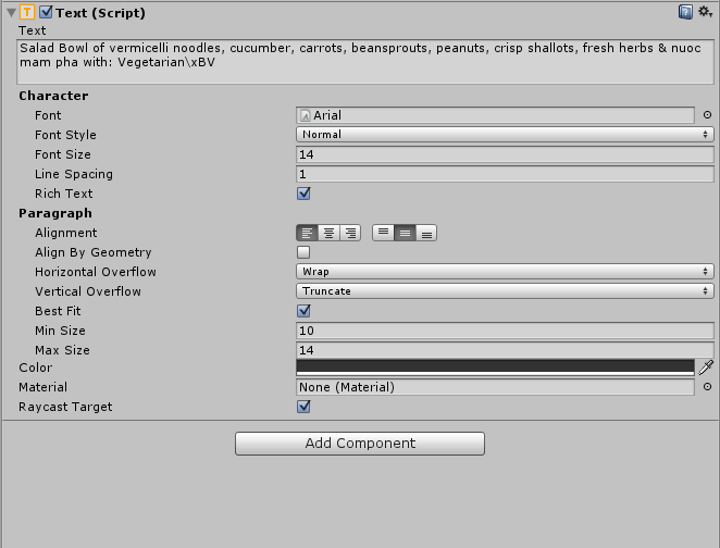 How do I use superscript/subscript in Unity 5 0's Text