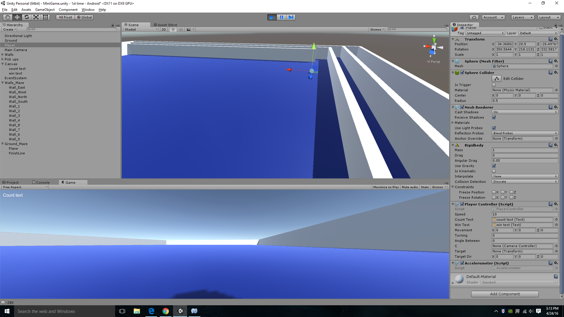 How to move the Rigid body with respect to the camera angle