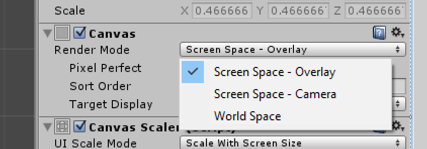 Want my UI to not move when I move my camera? - Unity Answers